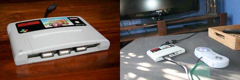 Twisted Soul Guts Super Famicom Cartridge to Create USB Hub