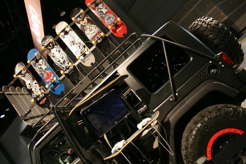 XBox Skateboarding Jeep Wrangler Unlimited