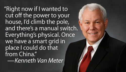Lockheed Martin's Kenneth Van Meter Profits If You Fear the Smart Grid