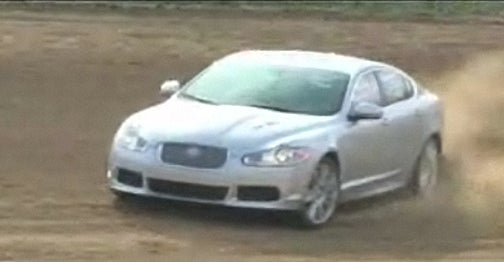 Car And Driver Hoons Jaguar XFR Around Dirt Track