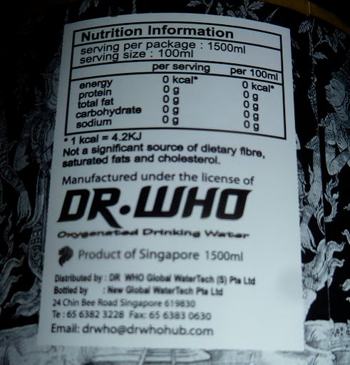 In Singapore, Dr. Who is not a significant source of dietary fiber
