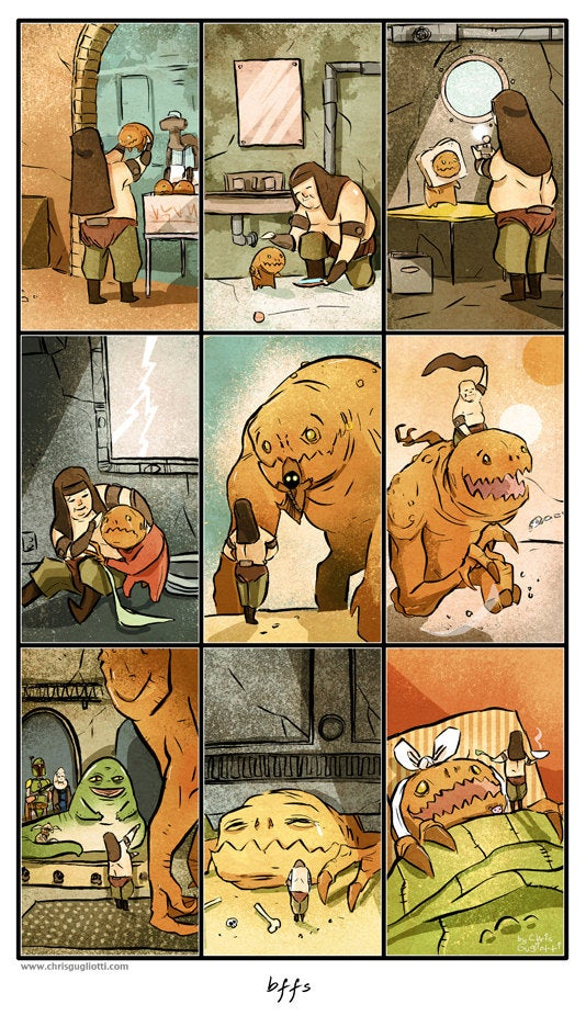 These sweet Star Wars comics will make your heart ache for the Rancor and Sarlacc