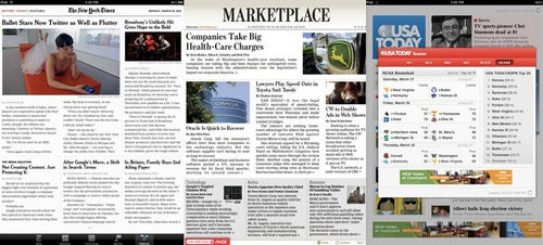 This Is a Newspaper on the iPad: The NYT, WSJ and USA Today iPad Apps