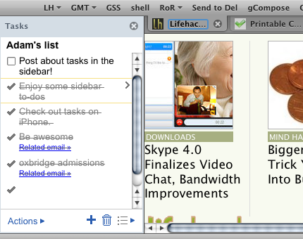 Add Gmail Tasks to Your Firefox Sidebar