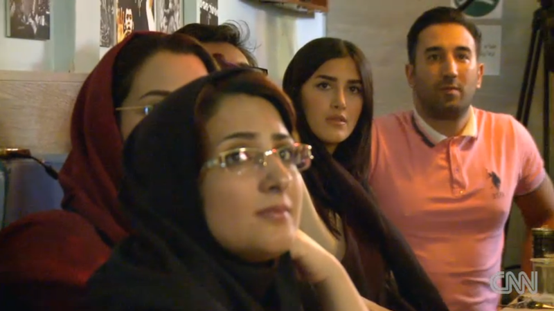 Iranian Women Defy Ban, Watch World Cup With Men