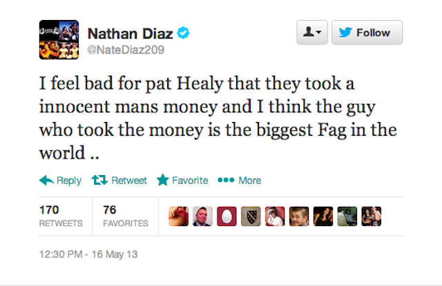 UFC Fighter Uses Homophobic Slur, Manager Offers Moronic Defense