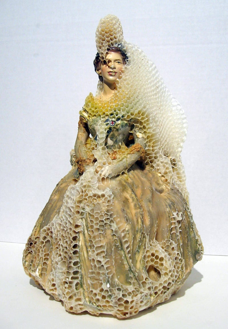 Artist makes gorgeous sculptures in collaboration with bees