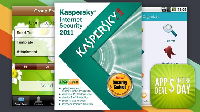 Daily App Deals: Kasperksy Internet Security Free with Rebate