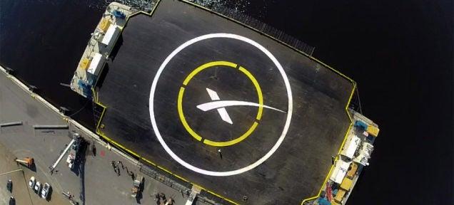 SpaceX Rocket Makes Crash Landing On A Drone Barge