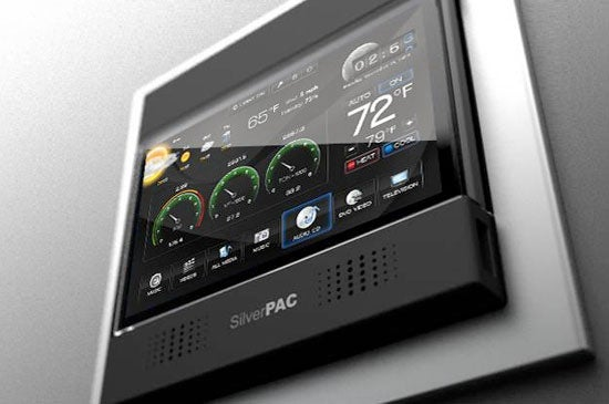 silverpac thermostat 39 s 7 inch touchscreen measures electricity usage. Black Bedroom Furniture Sets. Home Design Ideas