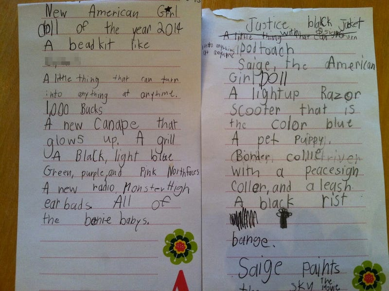 My Kid's Insane Christmas Wish List, Annotated