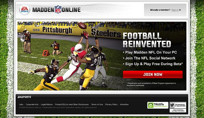 "EA Sports Envisioned Return to PC with ""Madden NFL Online"""