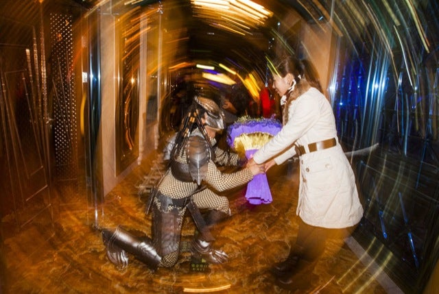 Man Dresses as Predator, Proposes to Girlfriend