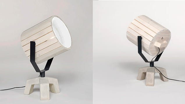 Barrel Lamp Holds Nothing But Glorious Light