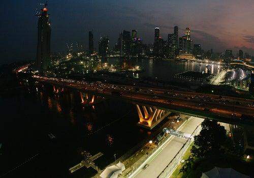 Singapore F1 GP At Night