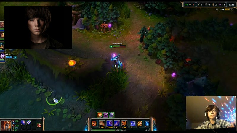 Let's Watch The Walking Dead's Carl Play League Of Legends