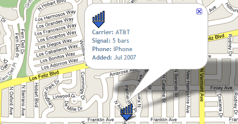 See real-world cell phone signals by location with SignalMap
