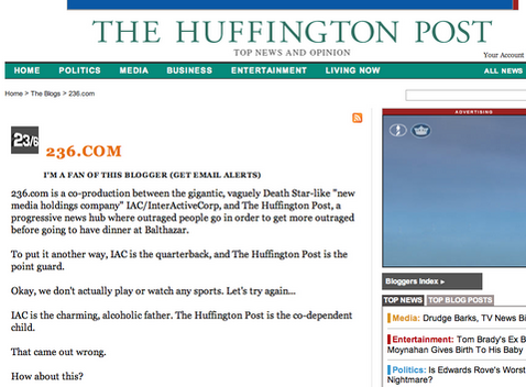 "New Huffington Post Humor Site Not ""Ha Ha,"" Any Other Kind Of, Funny"