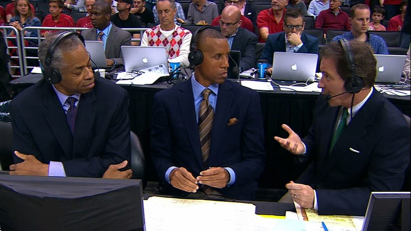 Rick Reilly Is Currently Wearing An Argyle Sweater Vest