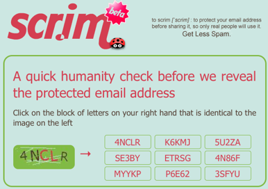 Scr.im Shares Your Email on the Internet, Protects It from Spambots
