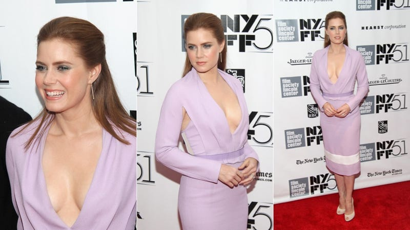 Amy Adams Is a Lilac Inner Boob Dreamsicle