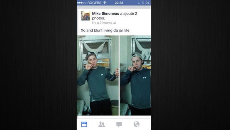 Inmate Posts Photos of Himself Drinking and Smoking Blunts Behind Bars