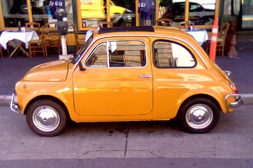 1970 fiat 500 the perfect san francisco car. Black Bedroom Furniture Sets. Home Design Ideas