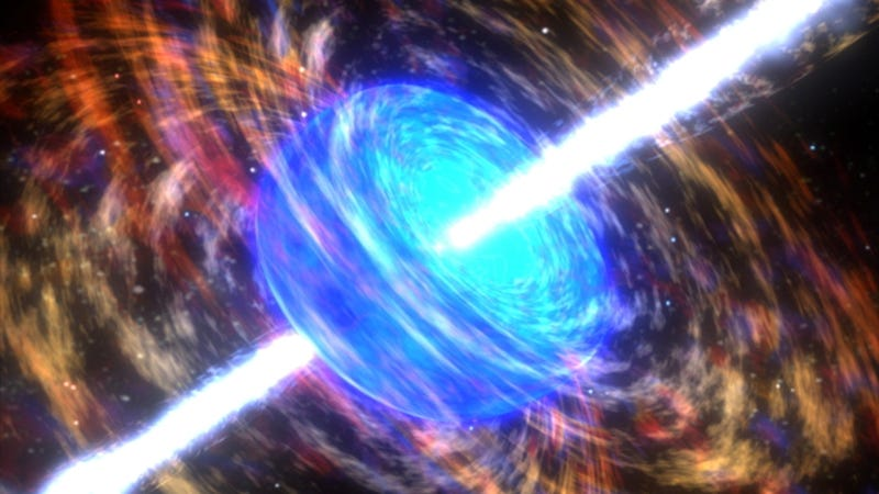 Deadly gamma-rays from an exploding star might have caused a mass extinction