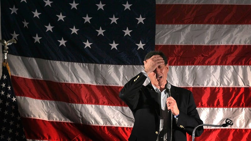 Rick Santorum Declares Self President of His Own Wet Blanket Club