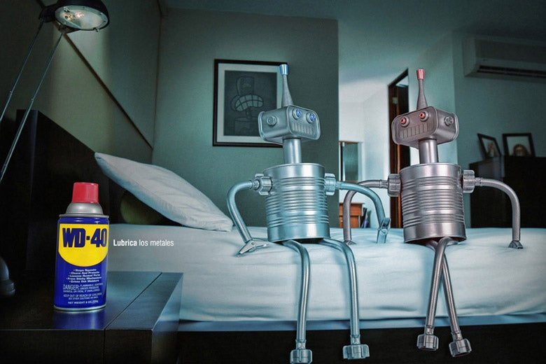 WD-40: Because Robots Get It On Too