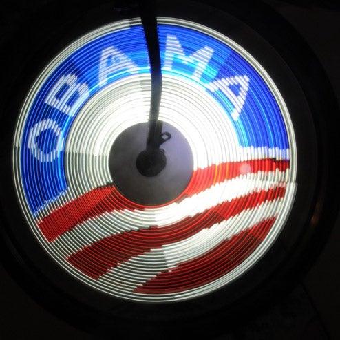 DIY SpokePOV System Lights Up Your Bike in Support for Obama