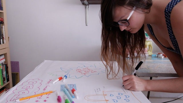 This DIY Giant Sticky Note Drawing Table Puts Your Ideas on the Wall
