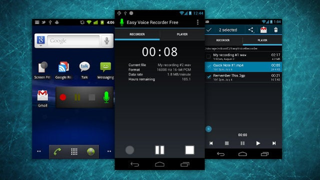 Easy Voice Recorder for Android Makes Recording Lectures or Interviews Dead Simple