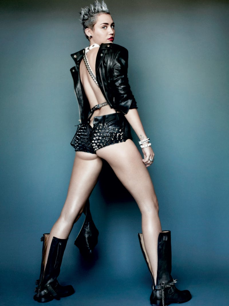 Miley Cyrus Poses Topless For V