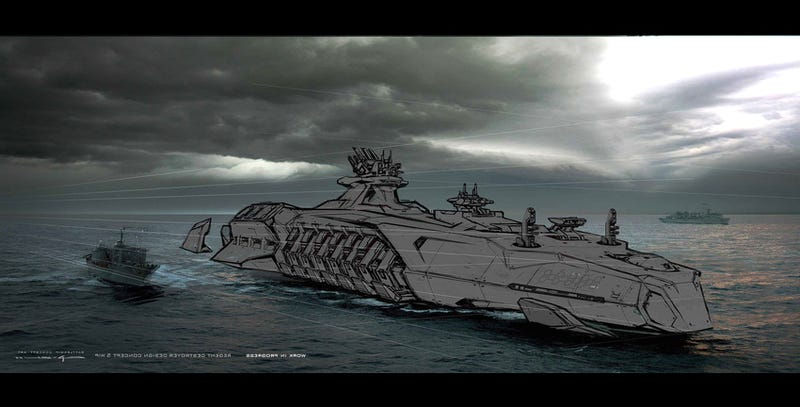 The Raw Beauty of Battleship's Alien Concept Art