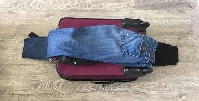 Fit Everything In One Carry-On by Interfolding Clothes Into a Bundle