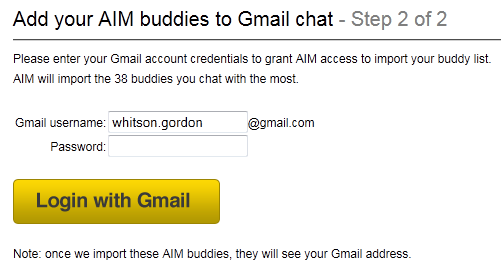 How to Mass Import Your AIM Buddies into Google Talk