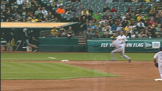 Brett Lawrie Eludes Ghost Man At Third, Gets Out At First
