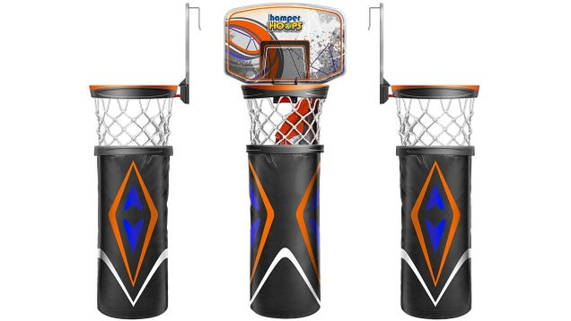 Hamper hoops is a good reason not to just throw your laundry on the floor - Basketball hoop clothes hamper ...
