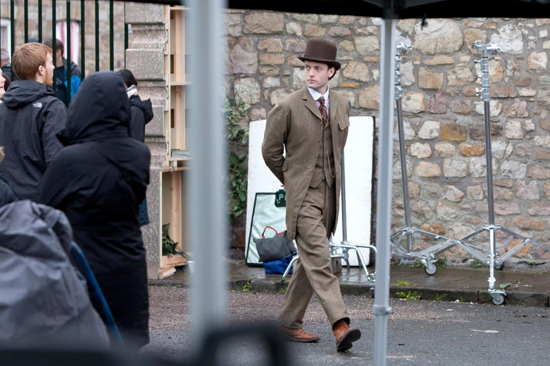 Matt Smith, Diana Rigg, Jenna-Louise Coleman and Brendan Patricks film Doctor Who