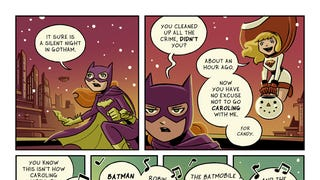 Christmas Caroling with Batgirl and Supergirl
