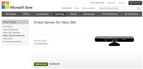 Even Microsoft Says Kinect Costs $150