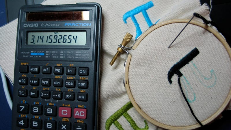 Find pi with a sewing needle