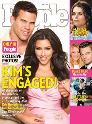 Kim Kardashian Gets Engaged, Celebrates With Glitter-Covered Ponies