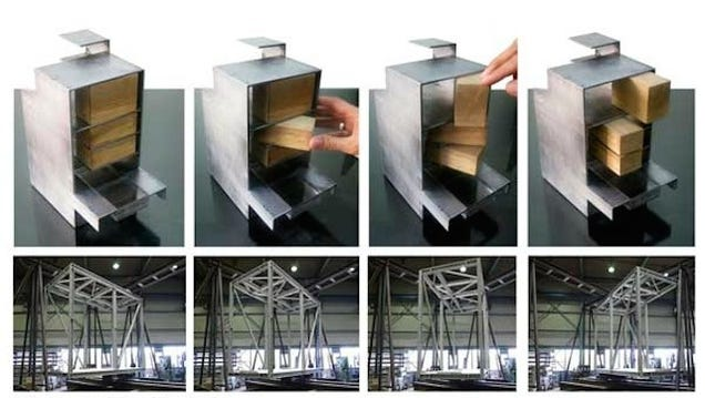 This clever transforming house has three rotating rooms gizmodo uk - Shape shifting house ...