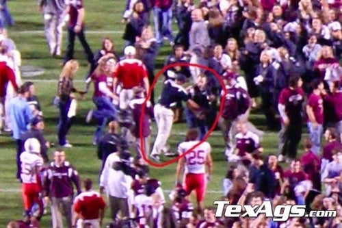 Here's Video Of Carl Pelini Getting Handsy With A TexAgs.com Photographer