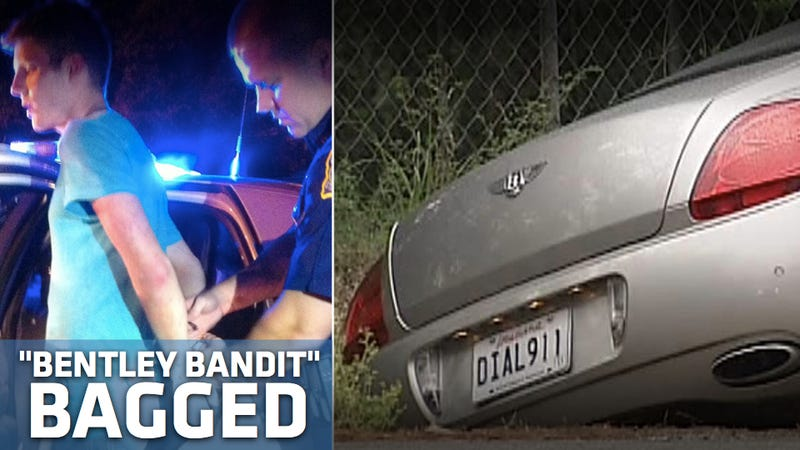 """Bentley Bandit"" caught in car with ""DIAL 911"" vanity plates"