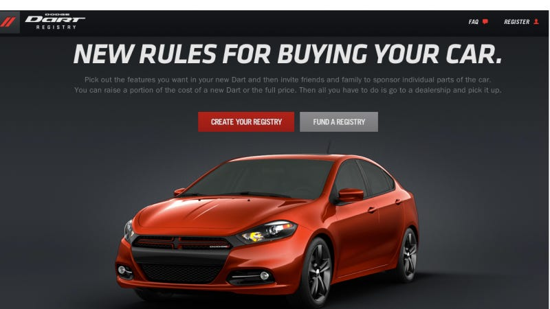 Getting Married? Forget Crate & Barrel, Register For A Dodge Dart Instead