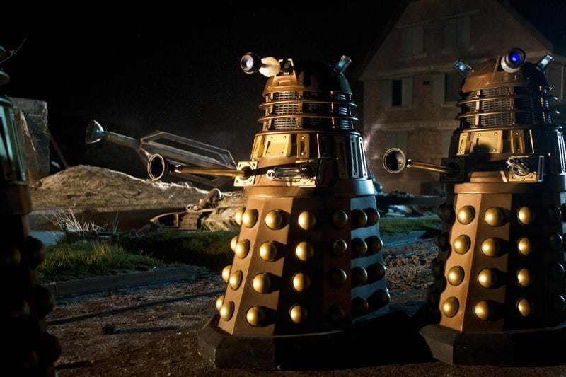 Thought the last batch of Doctor Who Christmas pics were weird?