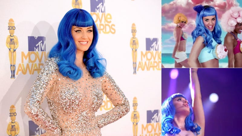 Katy Perry Reinvents Herself By Setting Fire To Her Blue Wig